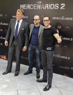 Jason Statham Photos - (L-R) Dolph Lundgren, Jason Statham and Jean-Claude Van Damme attend 'The Expendables ('Los Mercenarios photocall at Ritz hotel on August 2012 in Madrid, Spain. - 'The Expendables Madrid Photocall Van Damme, Hollywood Actor, Classic Hollywood, Hollywood Actresses, Actress Christina, Dolph Lundgren, Riders On The Storm, The Expendables, Jason Statham