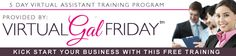 Complimentary FREE Virtual Assistant Training Program - Jumpstart Your VA Career today!! http://virtualgalfriday.us1.list-manage2.com/subscribe?u=6048ca8282e8f4834e0b83f3b&id=b82501d926  #free #virtualassistant #virtualgalfriday