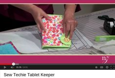 If you have an ereader, tablet, or an iPad®, carry it with Nancy's sew-techie cover. Select your favorite fabric and then sew a tablet keeper with or without embroidery. Let Nancy Zieman show you . Sewing Patterns Free, Free Sewing, Free Pattern, Bag Patterns, Fabric Crafts, Sewing Crafts, Sewing Projects, Quilting Tutorials, Sewing Tutorials