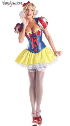 Sweetheart Snow Costume, Sexy Snow White Costume for Women, Snow White Dress