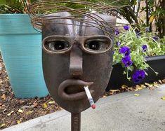 Scrap Material, Scrap Metal Art, Welding Projects, Outdoor Art, Yard Art, Best Dogs, Faces, Puppies, Handmade