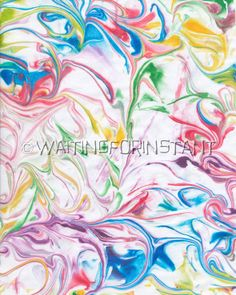 marbled paper using shaving cream and food coloring | attempted ...
