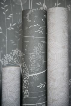 charcoal grey wallpaper rolls...
