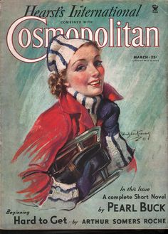 Cosmopolitan Magazine, Cover illustrations by Bradshaw Crandell. Vintage Advertisements, Vintage Ads, Vintage Prints, Vintage Images, Vintage Soul, Vintage Girls, Magazines For Kids, Vintage Magazines, Vintage Books