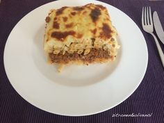 Pastitsio - der griechische Klassiker Vegan, Lasagna, French Toast, Greek, Food And Drink, Pasta, Cooking, Breakfast, Ethnic Recipes