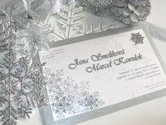 DIY winter wedding invitation
