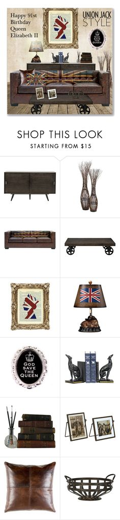 """""""Happy 91st Birthday Queen Elizabeth II"""" by leanne-mcclean ❤ liked on Polyvore featuring interior, interiors, interior design, home, home decor, interior decorating, Cyan Design, Andrew Martin, ELK Lighting and Hoolala"""