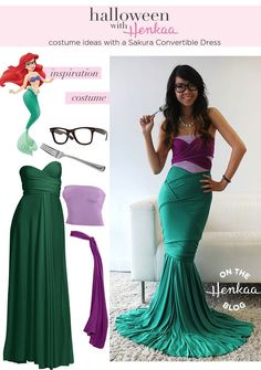 """This woman put a funny twist on a Disney classic with this """"Hipster Ariel"""" costume."""