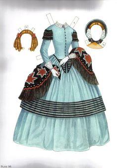 Las Recortables de Veva e Isabel: Godey´s Early Victorian Fashions