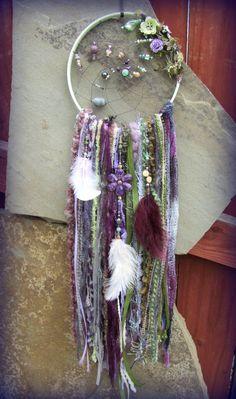 Bohemian Dreamcatcher Romantic Woodland Fairy by catcherfordreams