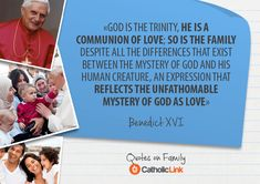 10 Quotes On Family From The Holy Fathers - Catholic Link Best Family Quotes, Best Quotes, Quote Family, Catholic Quotes, Catholic Prayers, Marriage And Family, Family Life, Pope Quotes, Papa Francisco Frases