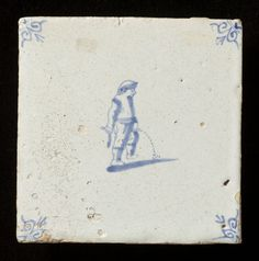 From the collection: The Tiles Collection. Date of creation: 1650 - 1700 Delft Tiles, Blue Tiles, Antique Tiles, Tile Projects, Friend Tattoos, Glazes For Pottery, Ceramic Design, Decorative Tile, Mediterranean Sea