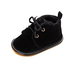 Rosennie Fashion Baby Boots Toddler Infant Soft Sole Prewalker Crib Shoes (3(12~18 Month), Black): Amazon.co.uk: Baby