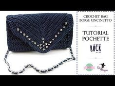 "TUTORIAL CROCHET BAG | Pochette a punta ""ROCK"" 