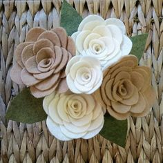 NEW!! Felt flower bouquet. Perfect for wedding or home decor. No watering needed and your special memory will never die.