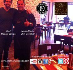 """Con Marco Marín ( Chef Ejecutivo de Latitud 32 en El Cielo Valle de Guadalupe), muchas gracias por todas tus atenciones, muy pronto tendré una entrevista en vivo para """"Hablando de Cocina con Chef Manuel Salcido"""" por Azul TeCsn del Tecnológico de Monterrey Campus Sonora Norte!!! buena vibra!!! #chefcms #azul83 #tecdemonterrey #hermosillo #elcielo #valledeguadalupe #bajacalifornia"""