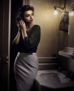 Kasia Smutniak by Vincent Peters for Vogue Italia
