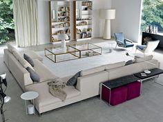 salon design italien canapé d'angle modulable par MOLTENI C