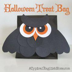A Typical English Home: Easy DIY Halloween Treat Bag