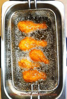 Air Fryer Fried Chicken KFC Copycat | DINE DREAM DISCOVER Air Fryer Fried Chicken, Air Fried Food, Oven Fried Chicken, Air Fryer Oven Recipes, Air Frier Recipes, Air Fryer Dinner Recipes, Kfc Chicken Recipe, Chicken Recipes, Best Baked Potato