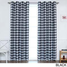 Aurora Home Oversized Houndstooth Room-Darkening Curtain Panel Pair