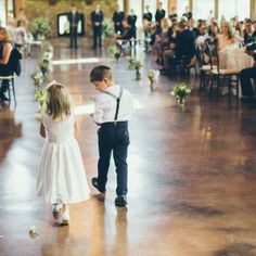 Flower Girl and Ring Bearer Attire //  photo by: Evan Hunt Photo // Ceremony Site: The Pavilion at Orchard Ridge Farms