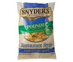 Snyder's of Hanover Restaurant Style Tortillas (130 calories, 5 g fat per 1 oz)  Panelists praised this winner for being light and salty. What they didn't know: A serving has a mere 120 mg sodium.
