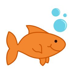 goldfish blank card printable and free matching clip art image rh pinterest com clipart goldfish bowl clipart goldfish bowl
