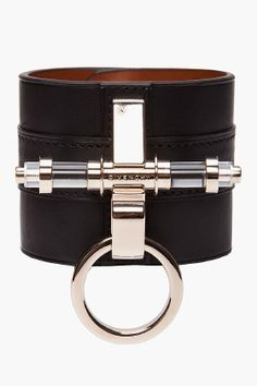 $455 GIVENCHY //  BLACK LEATHER CUFF