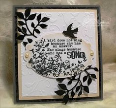 Beautiful card and stamped sentiment.