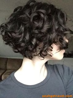 """32 Short Curly Bob Haircuts That Make You Say """"Wow!"""" for Short Curly Bob Haircuts 2019 Bob is a hairstyle with clear lines, perfectly emphasizing the features of almost any lady. It is a mistake to think tha. Short Curly Bob Haircut, Haircuts For Curly Hair, Curly Hair Cuts, Short Bob Hairstyles, Short Hair Cuts, Curly Hair Styles, Curly Bob Bangs, Short Bob Curly Hair, Short Hair For Curly Hair"""
