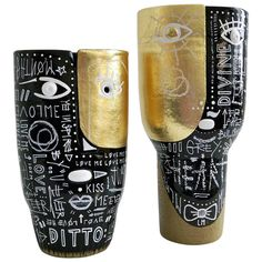 DaLo and G. Devin Pair of Ceramic Vases   From a unique collection of antique and modern sculptures at https://www.1stdibs.com/furniture/decorative-objects/sculptures/