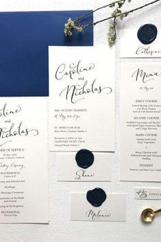 The Emily Wedding Stationery Collection features an elegant script and minimal style  #weddingstationery #stationerycollection #weddinginvitation #weddingmenu #weddingplacenames #weddingceremony #weddingorderofservice #minimalweddingstationery #elegantweddingstationery