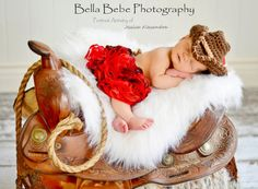 Country Cowgirl Set - Newborn/Baby - Made to Order. $40.00, via Etsy.