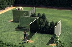Two-way Mirror Punched Steel Hedge Labyrinth / Dan Graham / 1994