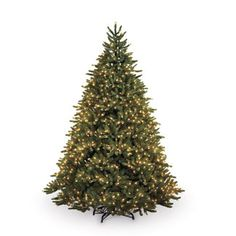 """Panelists loved the """"beautiful"""" plentiful lighting on the GE 7.5' Just Cut Fraser Fir ($298). Like the Balsam Hill, our Best Overall, the Fraser Fir has a foot-pedal on-off switch for lights and an electrical connection for your angel or star. For the price, this tree's hard to top. Lowes.com  - GoodHousekeeping.com"""
