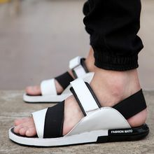 83dd5cd8134c 2015new Summer Style Men Sandals PU Leather Beach Sandals slippers Brand  Outdoor Casual shoes Men Beach