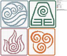 Avatar: The Last Airbender cross stitch pattern.