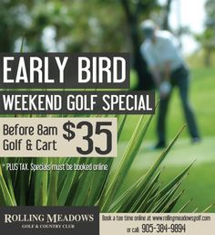 Rolling Meadows Golf Early Bird Special