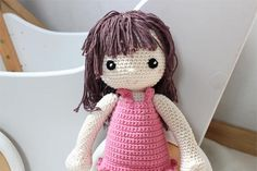 Crochet Doll beautiful with those  big eyes