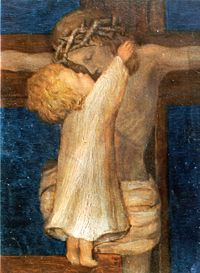 Child and Jesus on the Cross