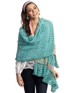 Tunisian Wrap By Marta Miller - Free Crochet Pattern - (yarnspirations)