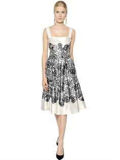 Lace Double Duchesse Silk Dress - Lyst