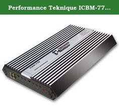 Performance Teknique ICBM-772 Mono Car Subwoofer Amplifiers. ICBM-772 Performance Teknique 2 Channel Bridgeable Power Amplifier 800W MAX.