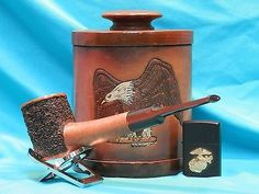 New-Unsmoked-Partially-Rusticated-Randall-Harris-Magnum-Freehand-Briar-Pipe-0115