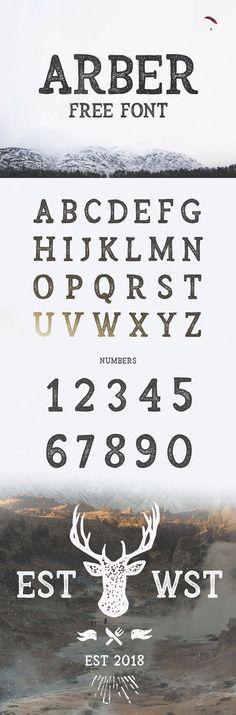Arber Free Vintage Font