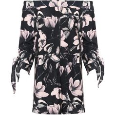 WearAll Plus Size Floral Off Shoulder Dress Top ($39) ❤ liked on Polyvore featuring plus size women's fashion, plus size clothing, plus size dresses, black, plus size, short floral dresses, off the shoulder floral dress, plus size short dresses, long sleeve off the shoulder dress and plus size mini dresses