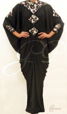 lace Abaya with awesome draping