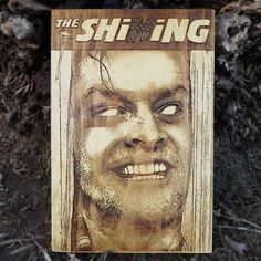 Horror Movie poster, The Shining, Stephen King wood poster engraved, wall decoration, wood carving wall art, free shipping