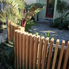 Get tips on designing attractive privacy fencing. Plus learn the right height for a privacy fence., Front yard fence, Fences and House fence design, Fences, Backyard fences and Fencing. Patio Fence, Front Yard Fence, Diy Fence, Fence Landscaping, Backyard Fences, Garden Fencing, Modern Landscaping, Fence Ideas, Bamboo Fencing